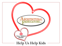 Architectural Fabricators is Sharing Valentine's Love at Texas Children's