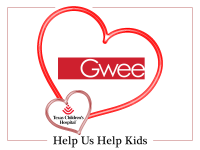 Gwee is Sharing Valentine's Love at Texas Children's Hospital
